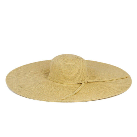 Women's Large Brim Ribbon Hat with a Bow (RBL299)