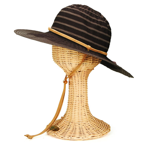 Hats - Womens Chin Cord Ribbon Floppy
