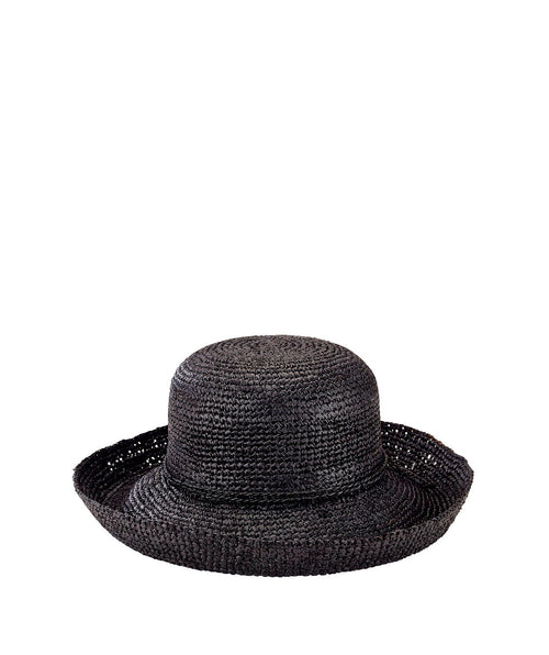 Hats - Womens Crochet Raffia Kettle Brim