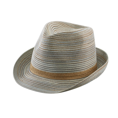 Womens Mixed Braid Fedora (MFX2006)