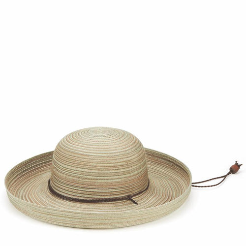 Hats - Womens Mixed Braid Kettle Brim Hat