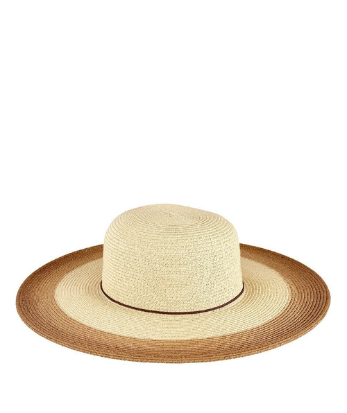 Hats - Womens Natural Sunbrim With Painted Color Prop