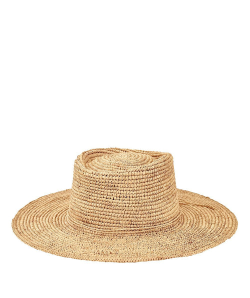 Hats - Womens Oval Crown Raffia