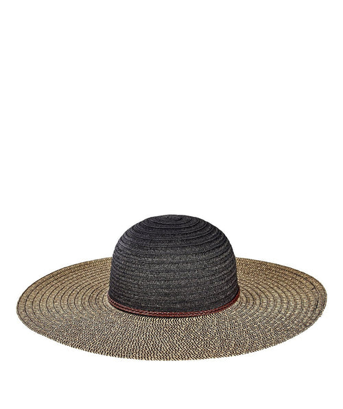 Hats - Womens Paperbraid Solid Crown, Mix Sun Brim