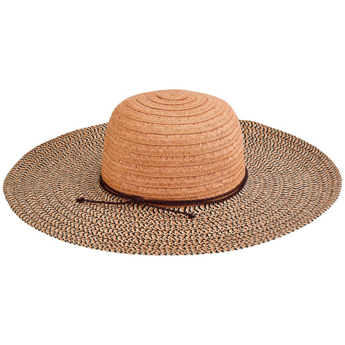 Womens Paperbraid Solid Crown, Mix Sun Brim