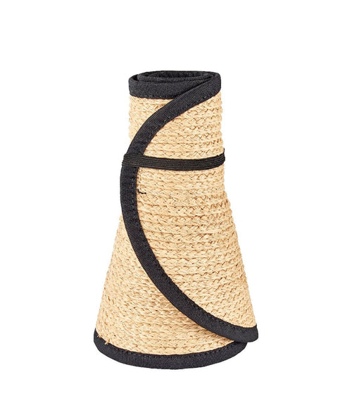 Hats - Womens Raffia Roll Up Visor