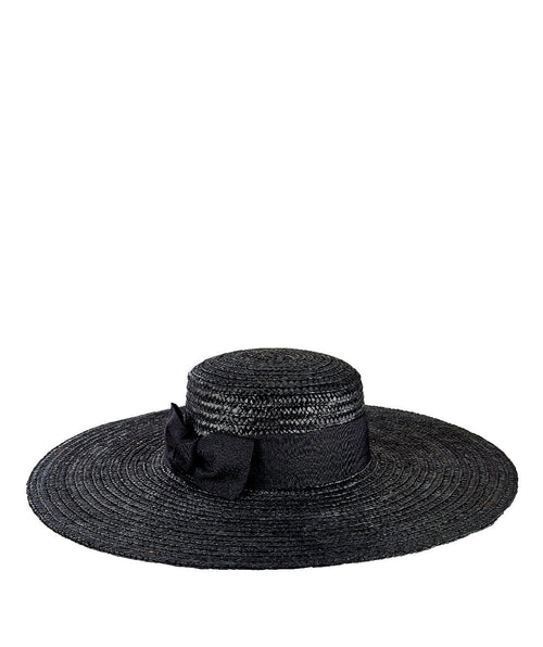 Hats - Womens Wheat Straw Wide Brim Boater