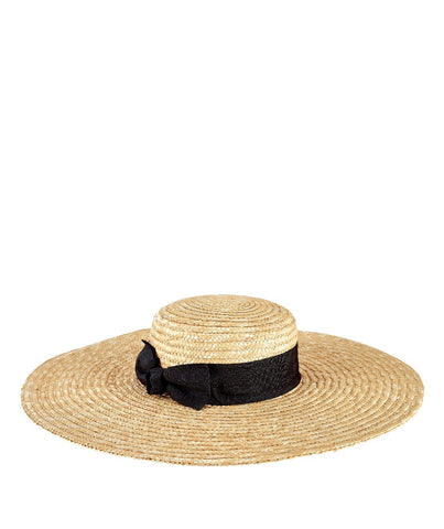 Women's Fine Straw Hat with Ribbon (WSH1056)