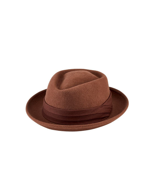 Hats - Wool Felt Porkpie With Grosgrain Trim