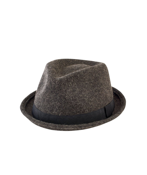 Hats - Wool Porkpie With Trim