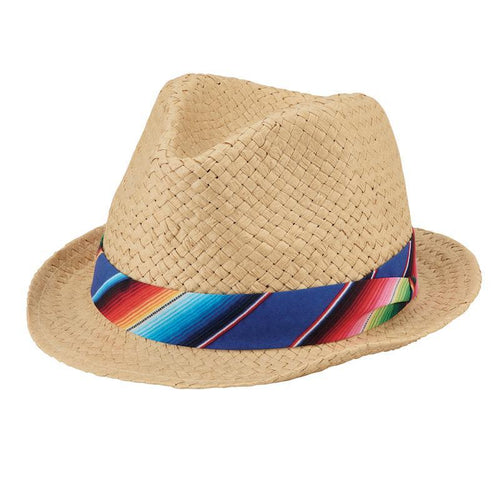 Hats - Youth Paper Fedora Natural Coloring For 8-12 Years Old