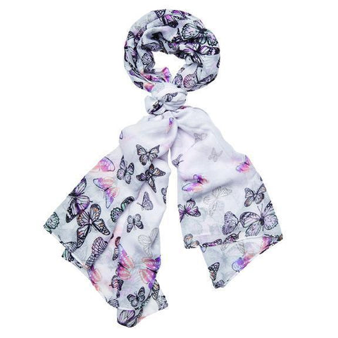 WOMENS ANIMAL PRINT BORDER SCARF  (BSS3705)