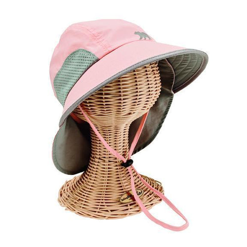 Toddler Sun Brim Hat w/ Neck Cover(OCK7702)