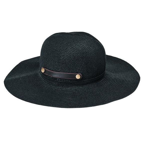 SUN BRIMS - Women'sultrabraid Packable Sun Brim Hat With Faux Leather Snap Tab Closure