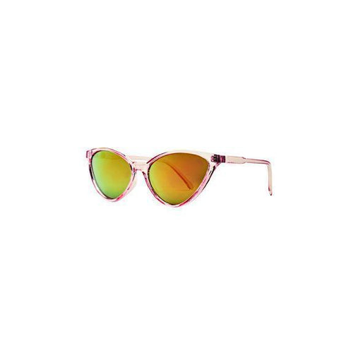 BSG1052 - WOMENS PLASTIC THIN CAT EYE MIRRORED SUNGLASS