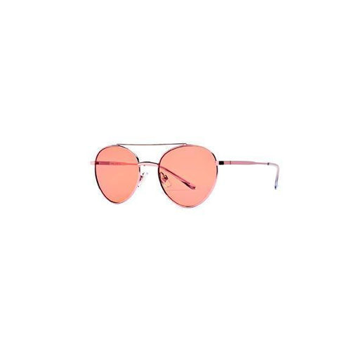 Womens Metal Rounded Aviator With Orange Tint - San Diego Hat Company (BSG1059)