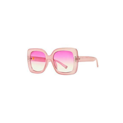 WOMENS PINK SQUARE PLASTIC SUNGLASSES (BSG1040)