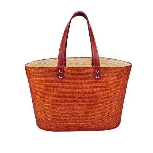 WOMENS PALM STRAW BRAID POP COLOR TOTE (BSB1764)