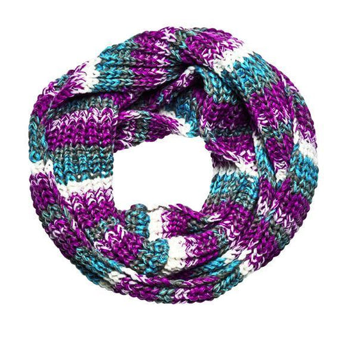 Women's Marled Knit Infinity Scarf (BSS3596)
