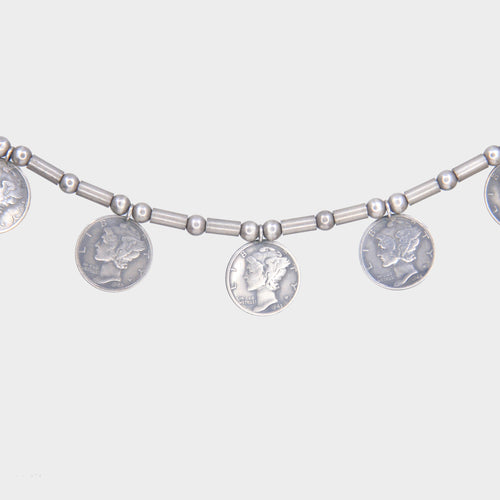Mercury Dime Amulet Necklace