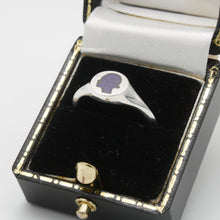 Load image into Gallery viewer, Aubergine Signet Ring