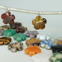 Load image into Gallery viewer, Amulet Necklace with Gemstone Flowers