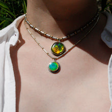 Load image into Gallery viewer, Persephone Ammonite Amulet Necklace