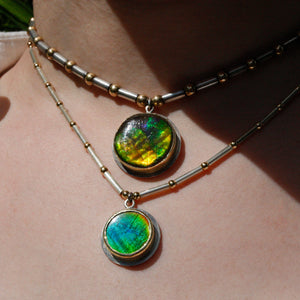 Demeter Ammonite Amulet Necklace
