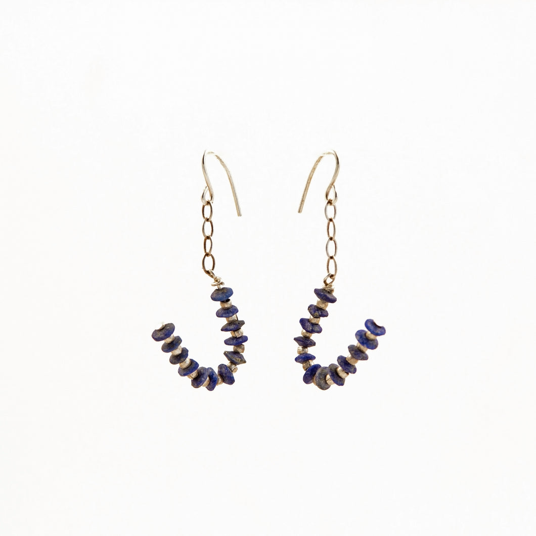 Lapis J Silver Earrings