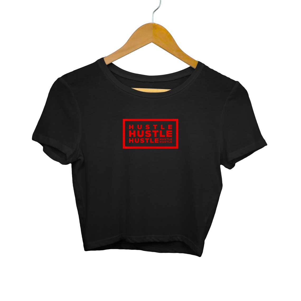 TrueTech HUSTLE! Crop Top for Women (Red)