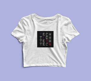 TrueTech Techx4 Crop Top for Women