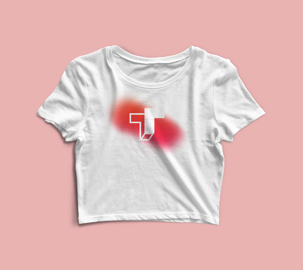 TrueTech Fade Logo Crop Top for Women