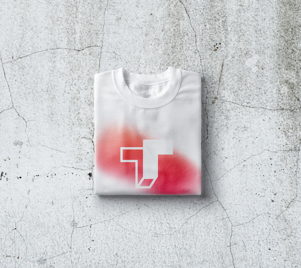 TrueTech Fade Logo T-Shirt for Men