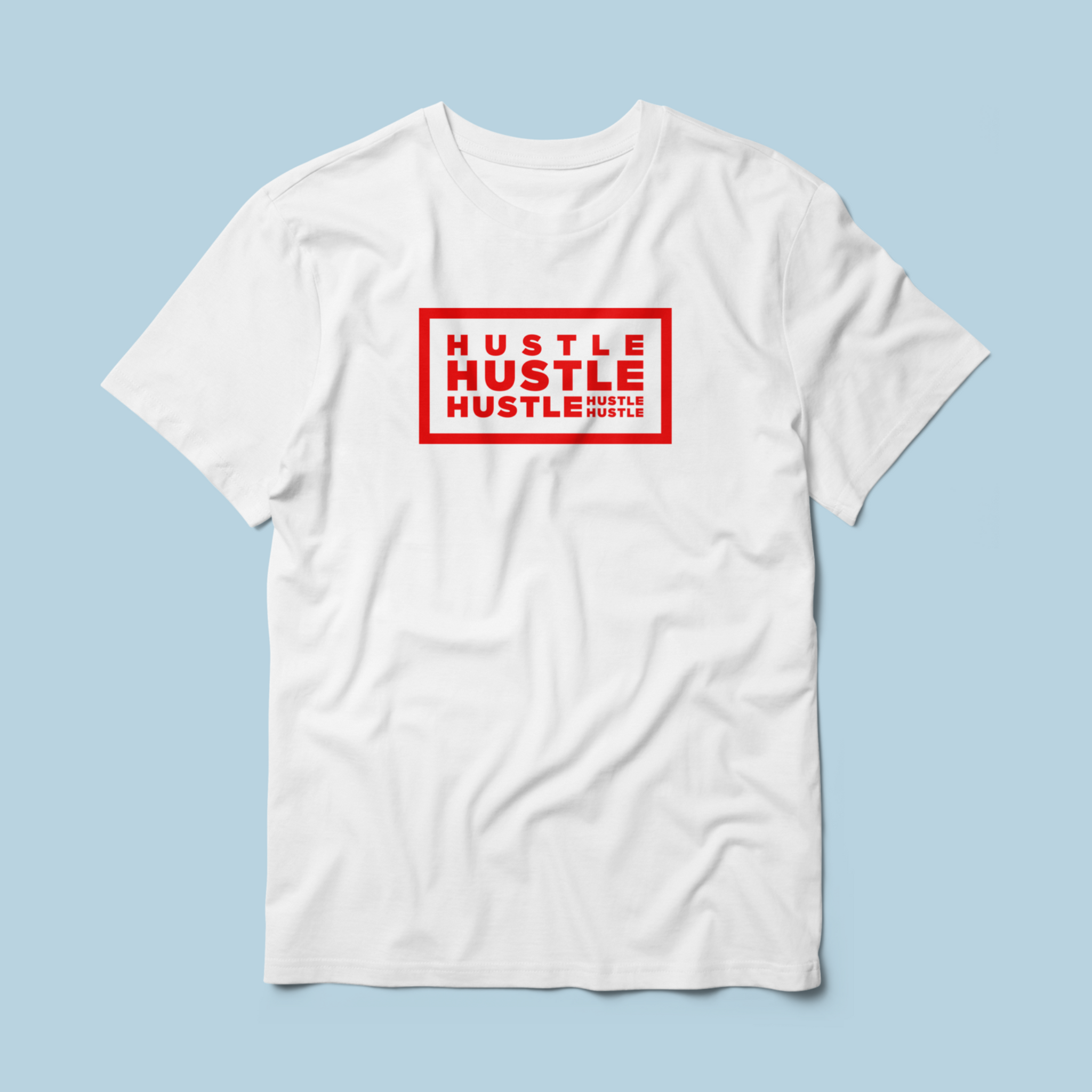 TrueTech HUSTLE! T-Shirt for Men (Red)