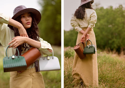 Fy magazine C.Nicol evie Barrel bag