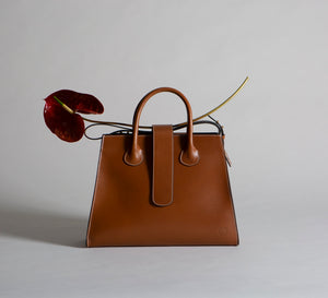 C.Nicol Rosa tote work bag in tan leather