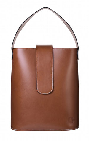 C.NICOL Holly maxi tan leather bucket bag
