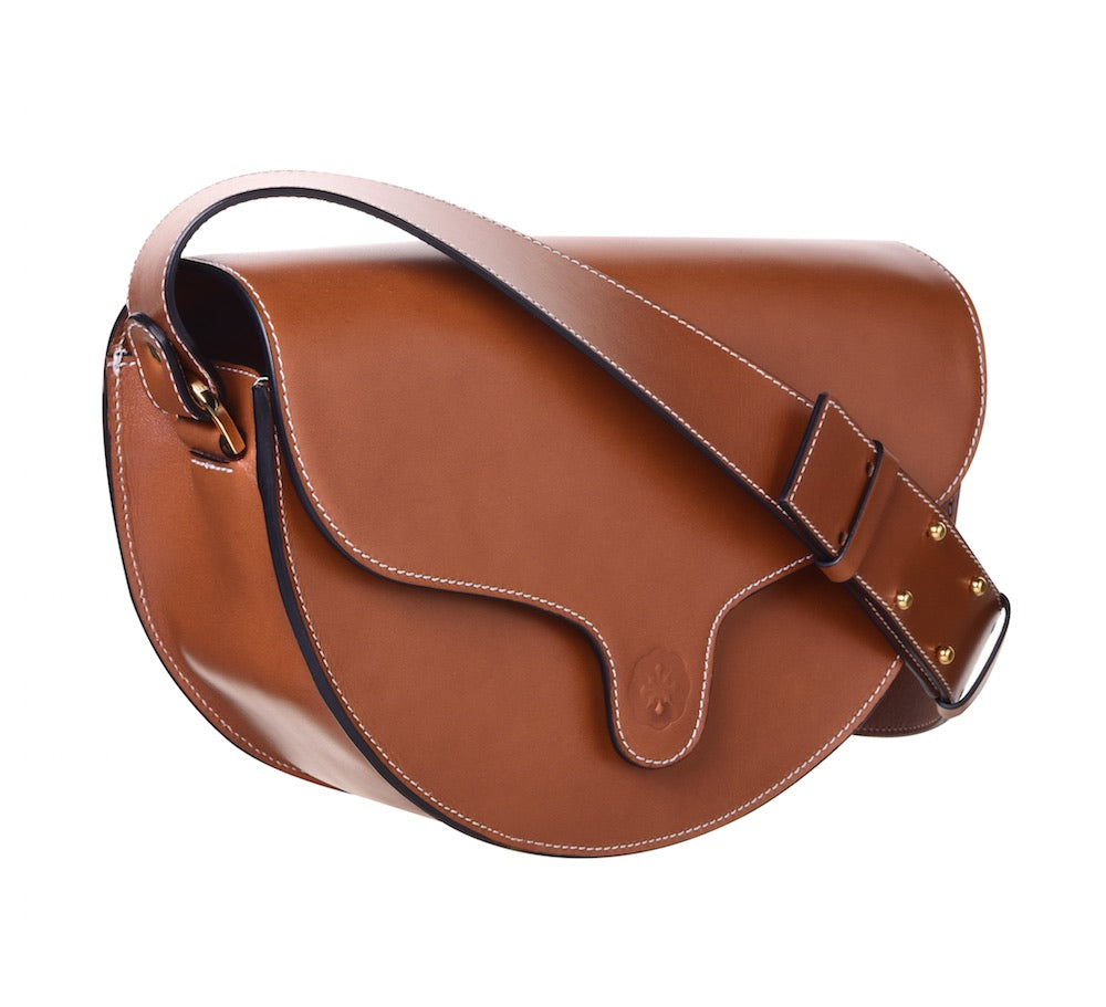 C.Nicol lily saddle bag in tan leather
