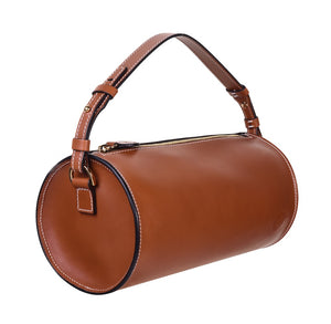 C.NICOL EVIE BARREL BAG TAN LEATHER SIDE VIEW