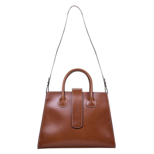 C.Nicol Rosa tote work bag in tan leather strap view