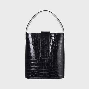 Holly maxi bucket - Black croco