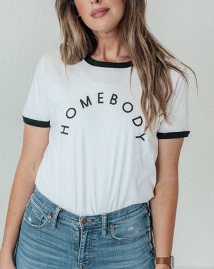 Load image into Gallery viewer, Homebody Unisex Ringer Tee