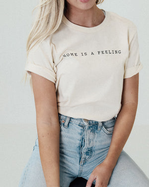 Load image into Gallery viewer, Home Is A Feeling Unisex Tee