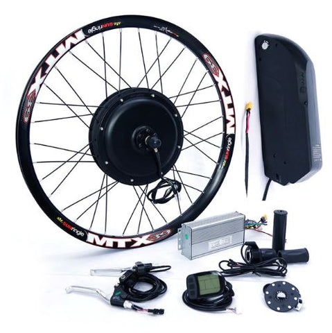 52v 2000W Electric Bike Conversion kit with 52V 13AH Shark Lithium Battery - LoveThatBike