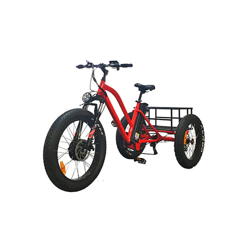48V 500W Fat Tyre Adult 3 Wheel Electric Trike - LoveThatBike