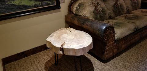 Lodgepole Slice Side Table