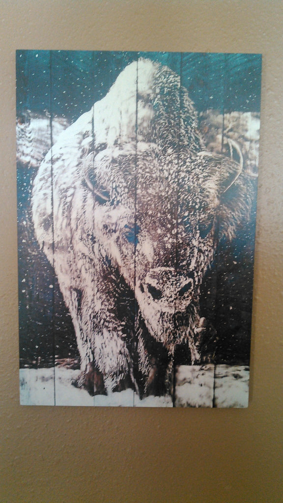 Bison WOOD PRINTS