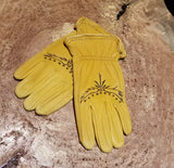 Decorated Leather Gloves