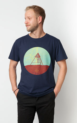 ELSK-Men, T-shirt, Lightning Strike, marineblå/print