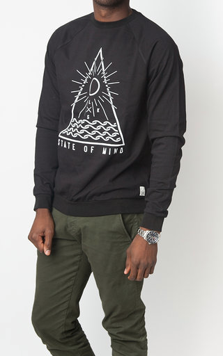 ELSK-Men, Sweatshirt, Sort m/print